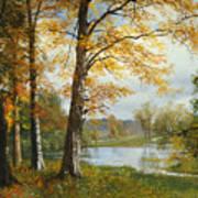 A Quiet Lake Art Print