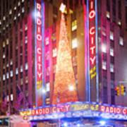 A Radio City Music Hall Christmas Art Print