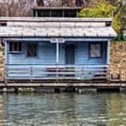 A Raft House Moored To The Shoreline Of Ada Ciganlija Islet Art Print