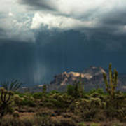 A Rainy Evening In The Superstitions  Art Print