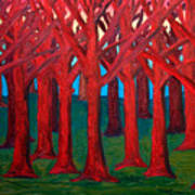 A Red Wood - Sold Art Print