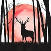 A Reindeer In The Woods Art Print