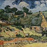 a replica of the landscape of Van Gogh Art Print