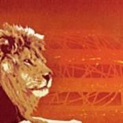 A Roaring Lion Kills No Game Art Print