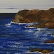 A Rocky Coast Art Print