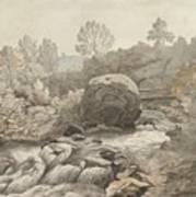 A Rocky Stream Art Print