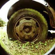 A Rolling Tire Gathers No Moss Art Print