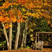A Romantic Autumn Spot In Inlet Art Print