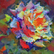 A Rose Impression Art Print