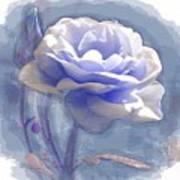 A Rose In Pastel Blue Art Print