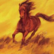 A Running Horse Art Print