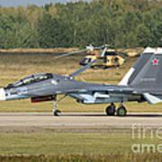 A Russian Navy Su-30sm Aircraft Art Print