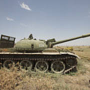 A Russian T-62 Main Battle Tank Rests Art Print