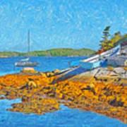 A Sailboat Near Halifax Nova Scotia Art Print