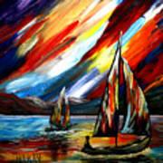 A Sailing Prism Art Print