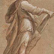 A Saint Holding A Book Art Print