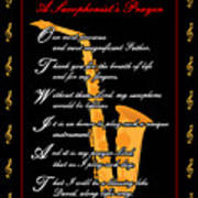 A Saxophonists Prayer_1 Art Print by Joe Greenidge