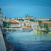 A Scene In Prague 3 Art Print
