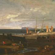 A Scene On The English Coast Art Print