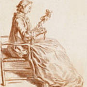 A Seated Woman Art Print