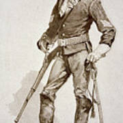 A Sergeant Of The Us Cavalry Art Print