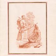 A Shepherdess And A Fishseller Art Print