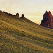 A Shiprock Sunrise - New Mexico - Landscape Art Print