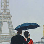 A Shower At The Trocadero Art Print
