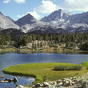 A Sierra Mountain Lake In Summer Art Print