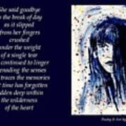 A Single Tear - Poetry In Art Art Print
