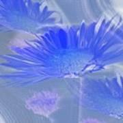A Slanting Blue Wind  Art Print