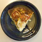 A Slice Of Savory Tomato And Cheese Tart Art Print