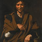 A Smiling Beggar Art Print