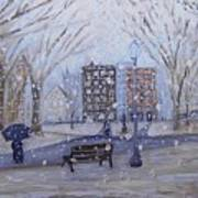 A Snowy Afternoon In The Park Art Print