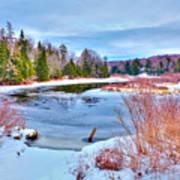 A Snowy Moose River Art Print
