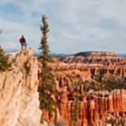 A Solitary Hiker Looks Art Print
