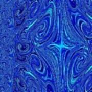 A Spiritual Retereat In Blue Art Print