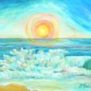 A Splash Of Dawn Art Print