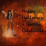 A Spooky, Space Halloween Card Art Print
