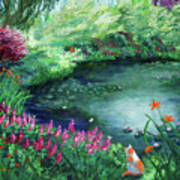 A Spring Day In The Garden Art Print