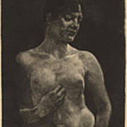 A Standing Nude Art Print