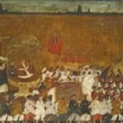 A State Procession Of Raja Tulsaji Art Print