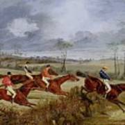 A Steeplechase - Near The Finish Henry Thomas Alken Art Print