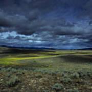 A Storm Builds Up Over A Colorado Art Print