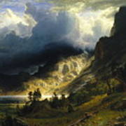 A Storm In The Rocky Mountains Mt. Rosalie, 1866 Art Print