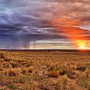 A Stormy New Mexico Sunset - Storm - Landscape Art Print