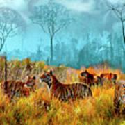 A Streak Of Tigers Art Print