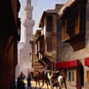 A Street In Cairo Art Print