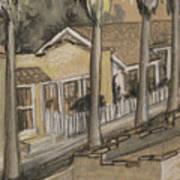 A Street In California Art Print
