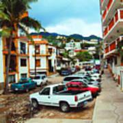 A Street In Puerto Vallarta Art Print